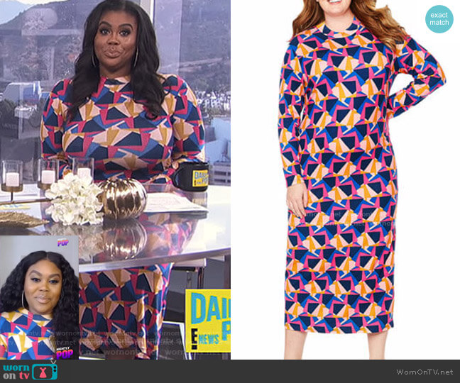 Kindness Dress by Tracee Ellis Ross for JCP worn by Nina Parker  on E! News