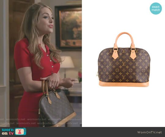 'Alma PM' by Louis Vuitton worn by Elizabeth Gillies on Dynasty