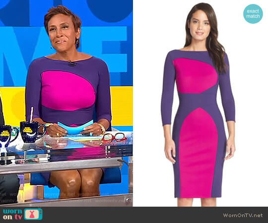 'Alessandra' Dress by Chiara Boni La Petite Robe worn by Robin Roberts  on Good Morning America