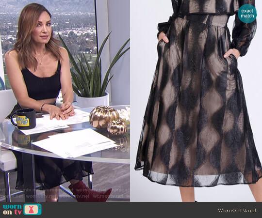'Mara' Skirt by Lahive worn by Catt Sadler (Catt Sadler) on E! News