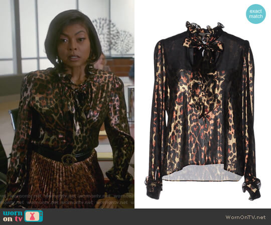 Leopard Print Blouse by Lanvin worn by Taraji P. Henson on Empire