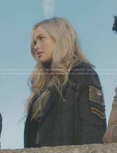 Lauren's black military jacket on The Gifted
