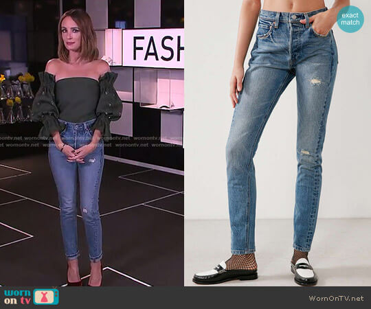 Levi's 501 Altered Skinny Jean Moody Blues by Levi's worn by Catt Sadler on E! News