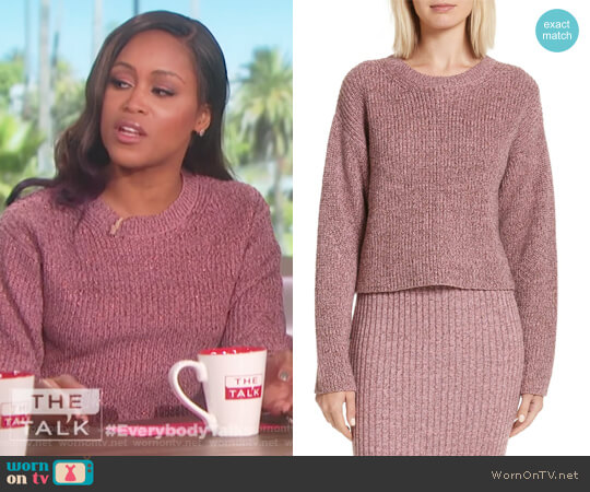 Leyton Sweater by Rag and Bone worn by Eve on The Talk
