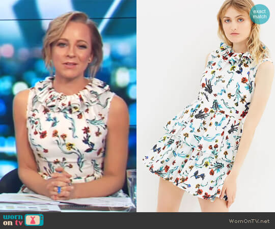 Saratoga Dress by Life with Bird worn by Carrie Bickmore on The Project