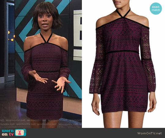 'Kakki' Dress by Likely worn by Zuri Hall on E! News