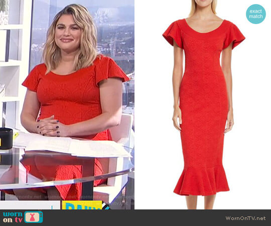 Lotus Jacquard Medallion Dress by Opening Ceremony worn by Carissa Loethen Culiner on E! News