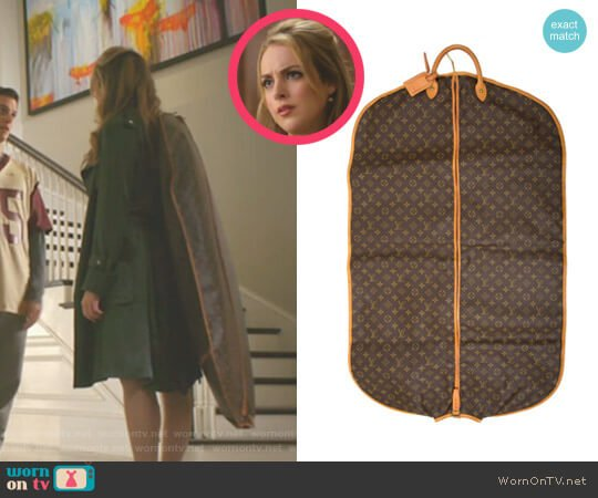 Monogram Garment Cover by Louis Vuitton worn by Fallon Carrington (Elizabeth Gillies) on Dynasty