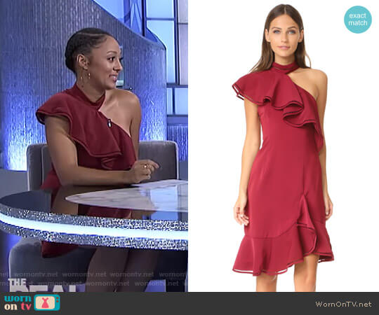 Lovers Holiday Dress by Keepsake worn by Tamera Mowry  on The Real