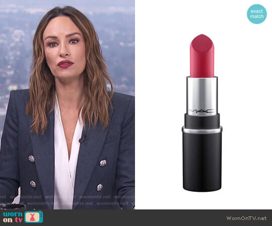 Little MAC Lipstick -  D for Danger M by M.A.C. worn by Catt Sadler on E! News