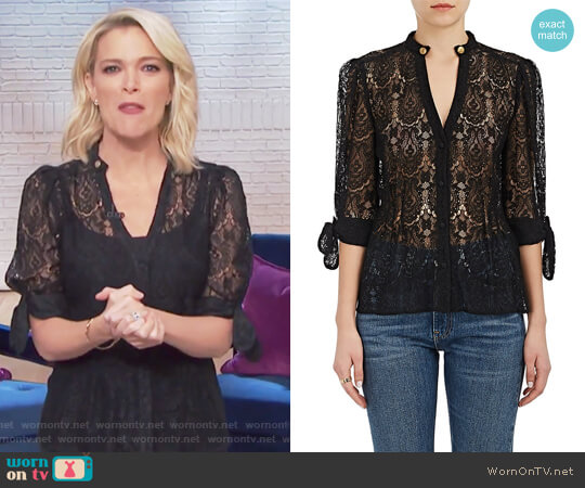 Nadege Corded Lace Blouse by Maison Mayle worn by Megyn Kelly on Today