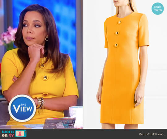 Wool-blend crepe dress by Michael Kors worn by Sunny Hostin on The View
