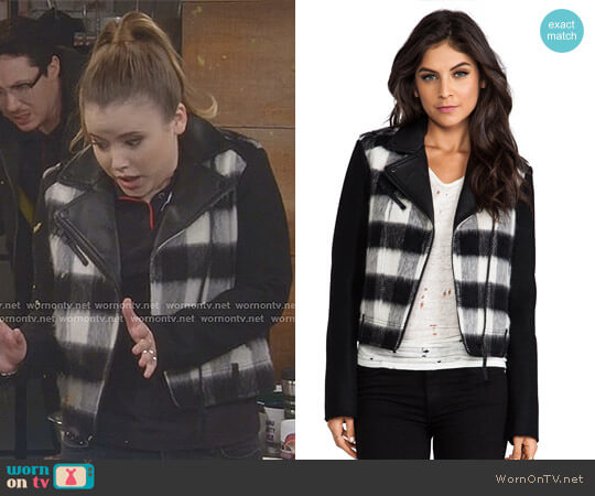 'Shanty' Jacket by Mackage worn by Kendra Gable (Taylor Spreitler) on Kevin Can Wait
