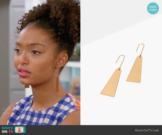 Madewell Petaldrop Earrings worn by Yara Shahidi on Blackish