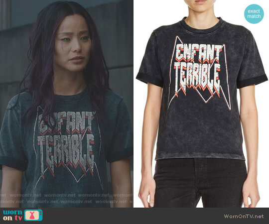 Enfant Terrible Graphic Tee by Maje worn by Jamie Chung on The Gifted