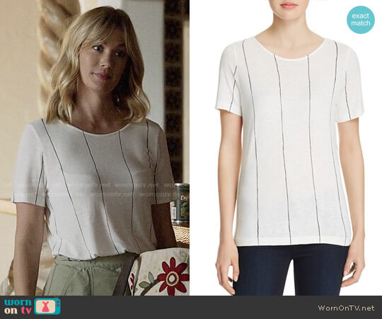 Majestic Filatures Vertical Stripe Tee worn by January Jones on Last Man On Earth
