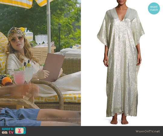 Bright Boubou/Caftan by Marie France Van Damme worn by Fallon Carrington (Elizabeth Gillies) on Dynasty