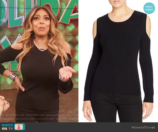 Ribbed Cold Shoulder Sweater by Marled worn by Wendy Williams  on The Wendy Williams Show
