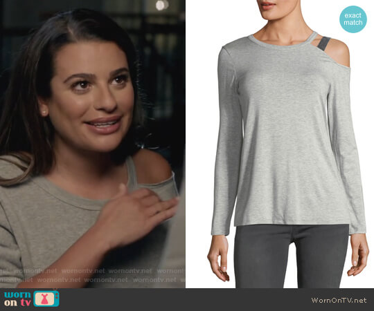 One-Shoulder Cutout Tee by Marled by Reunited worn by Valentina Barella (Lea Michele) on The Mayor