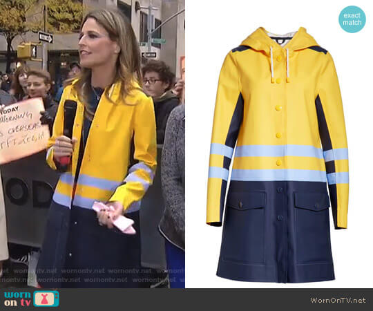 Waterproof Hooded Raincoat by Stutterheim x Marni worn by Savannah Guthrie on Today