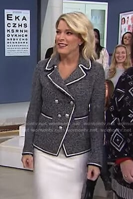 Megyn's grey tweed jacket on Today