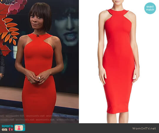 'Cleo' Dress by Nookie worn by Zuri Hall  on E! News