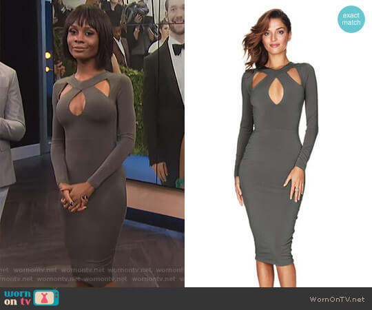 'Galaxy' Dress by Nookie worn by Zuri Hall on E! News