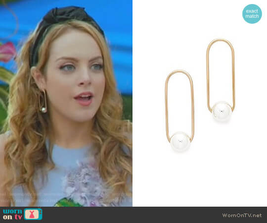 The Frida Earrings by One Six Five worn by Elizabeth Gillies on Dynasty