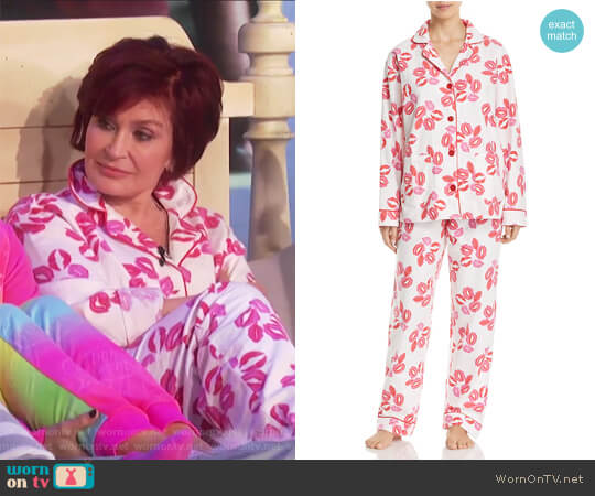 Lips Flannel PJ Set by PJ Salvage worn by Sharon Osbourne on The Talk