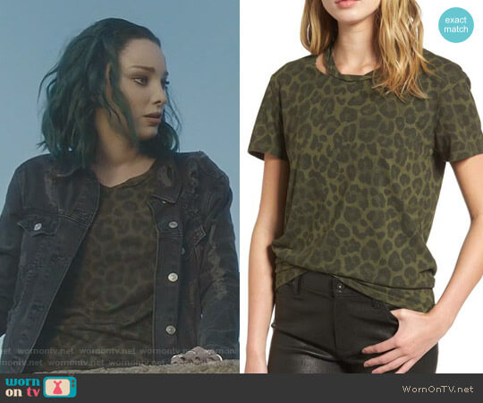 Leopard Print Tee by Pam & Gela worn by Lorna Dane (Emma Dumont) on The Gifted