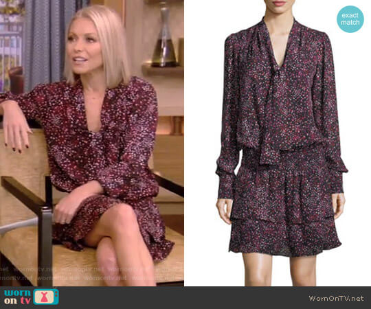 'Marybeth' Dress by Parker worn by Kelly Ripa on Live with Kelly & Ryan