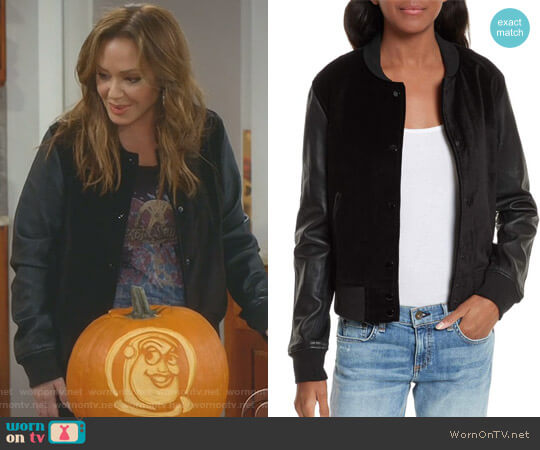 'Camden' Jacket by Rag and Bone worn by Vanessa Cellucci (Leah Remini) on Kevin Can Wait