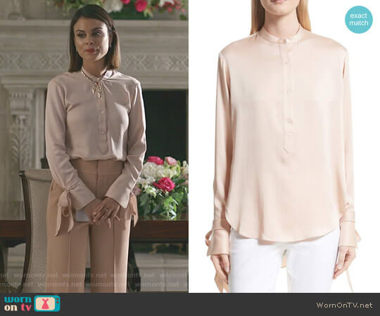 'Dylan' Shirt by Rag & Bone worn by Nathalie Kelley on Dynasty