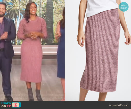 Jubilee Skirt by Rag and Bone worn by Eve on The Talk