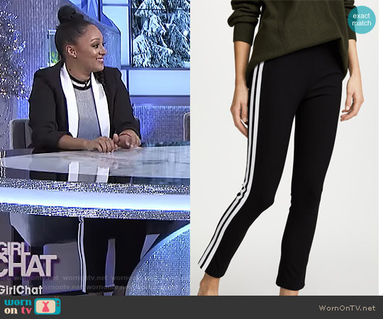 'Simone' Pants by Rag & Bone worn by Tamera Mowry on The Real