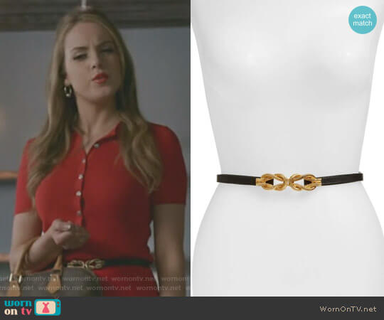 'Lillian' Belt by Raina worn by Elizabeth Gillies on Dynasty