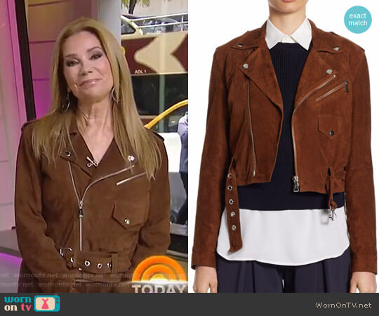 Suede Moto Jacket by Ralph Lauren worn by Kathie Lee Gifford on Today