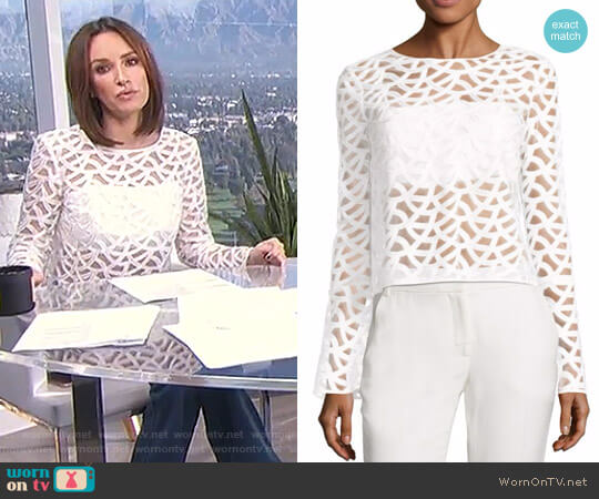 'Sam' Lace Top by Ramy Brook worn by Catt Sadler  on E! News