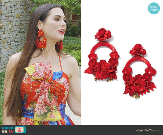 Posie Statement Earrings by Ranjana Khan worn by D'Andra Simmons on The Real Housewives of Dallas