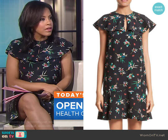 Wallpaper Floral Print Silk Dress by Red Valentino worn by Sheinelle Jones (Sheinelle Jones) on Today