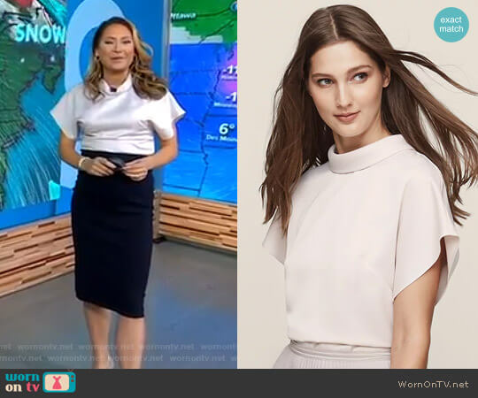 'Della' Top by Reiss worn by Ginger Zee on Good Morning America