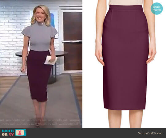 'Arreton' Wool Pencil Skirt by Roland Mouret worn by Megyn Kelly on Today