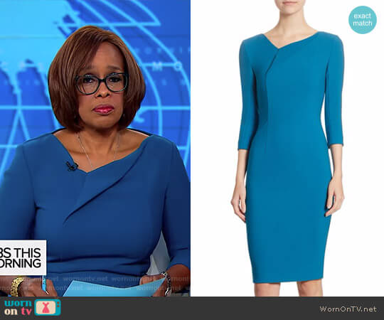 'Ashby' Dress by Roland Mouret worn by Gayle King on CBS This Morning