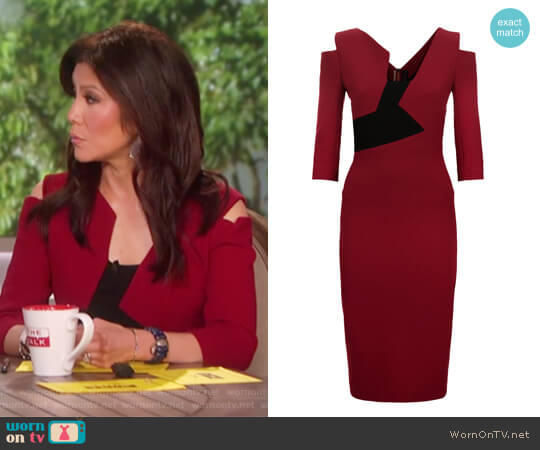 Kiverton Asymmetric Panel Dress by Roland Mouret worn by Julie Chen  on The Talk