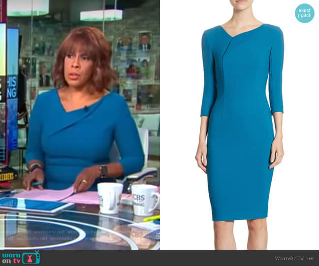 Ashby Dress by Roland Mouret worn by Gayle King on CBS This Morning