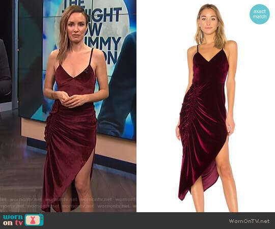Ahn Velvet Dress by Ronny Kobo worn by Catt Sadler on E! News