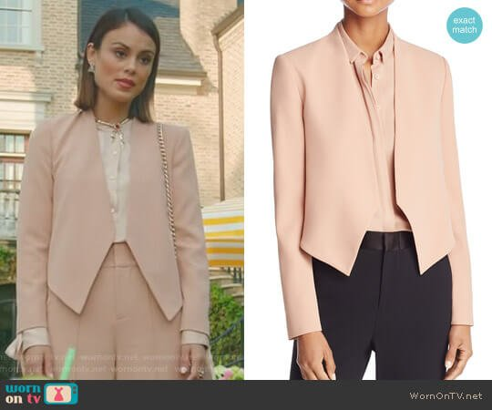 'Roxanne' Jacket by Alice + Olivia worn by Nathalie Kelley on Dynasty