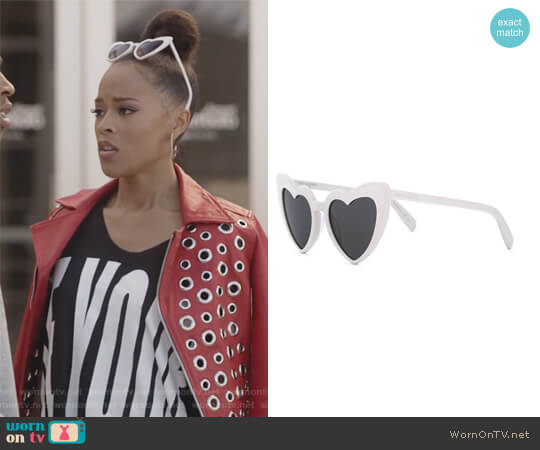 New Wave 181 LouLou Sunglasses by Saint Laurent worn by Serayah McNeill on Empire