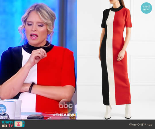 Clemence color-block stretch-knit dress by  Solace London worn by Sara Haines  on The View