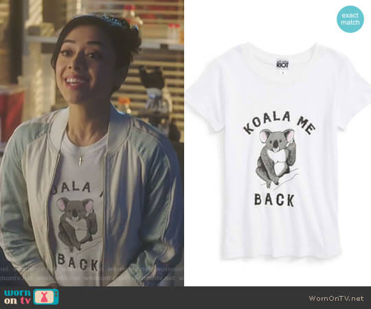 Koala Me Back Tee by Sub Urban Riot worn by Ella Lopez (Aimee Garcia) on Lucifer